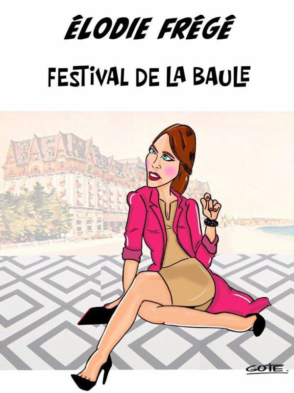 elodie frege jury au festival du cinéma et musique de film de La Baule novembre 2017 ( 1 )