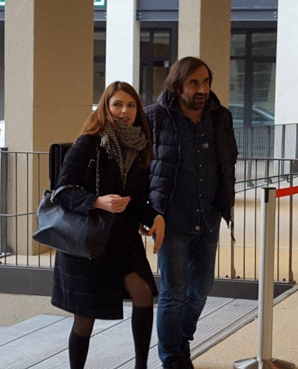 """Elodie Frégé et André Manoukian pour l'inauguration du nouveau """" cap cinéma """" de Nimes ( dans le Gard 30 ) le 28 novembre 2017"""