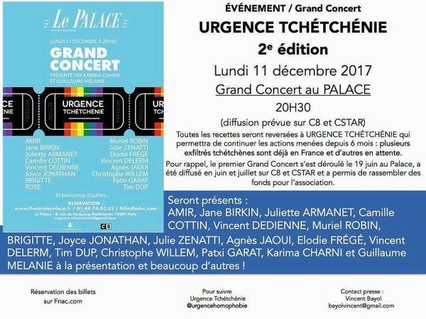 Concert au theatre du Palace a Paris UrgenceTchetchenie le 11 decembre 2017 ( 1 )