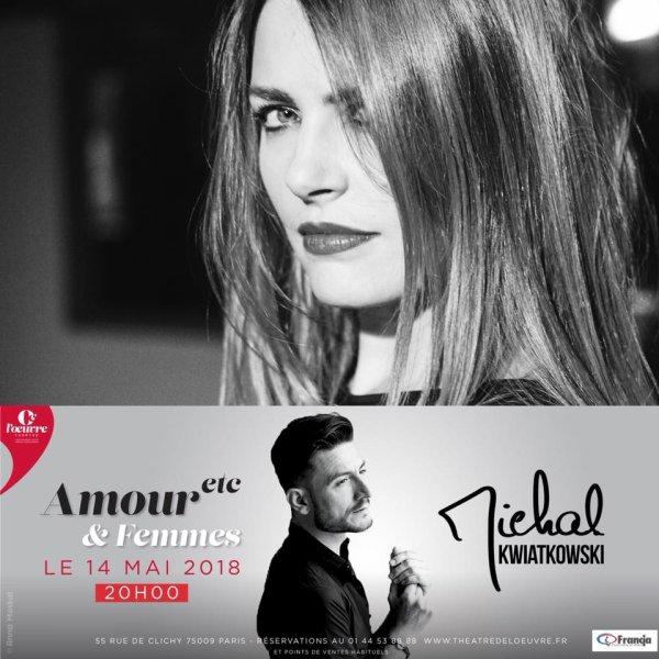 Concert de Michal au théâtre de l oeuvre à Paris le 14 mai 2018 ( 1 )