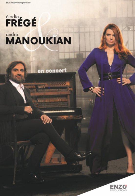 Concert Elodie Frégé et André Manoukian au centre culturel  de Mauron ( 56 ) le 28 septembre 2018