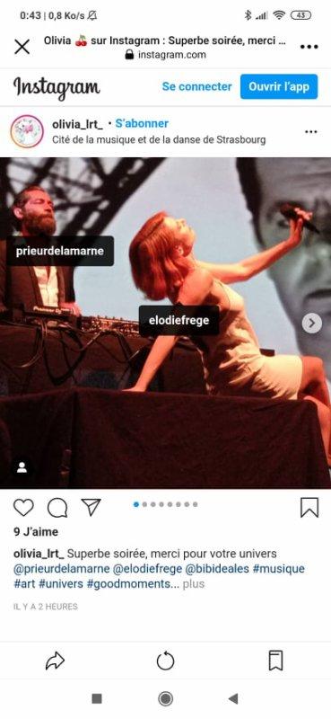 ELODIE FREGE EN CINE CONCERT AVEC PRIEUR DE LA MARNE A STRASBOURG LE 3 SEPTEMBRE 2021 ( 3 )