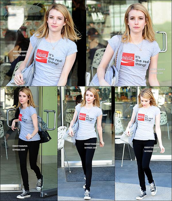 . 5 janvier 2011 - Cette fois c'est quittant la gym que Emma a été vue, elle portait donc une tenue de sport assez sympa petit top. .
