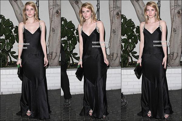 . 13 janvier 2012 - Em' était à une pre-party pour les Golden Globes organisé par W Magasine - flop, je n'aime pas trop sa robe. .