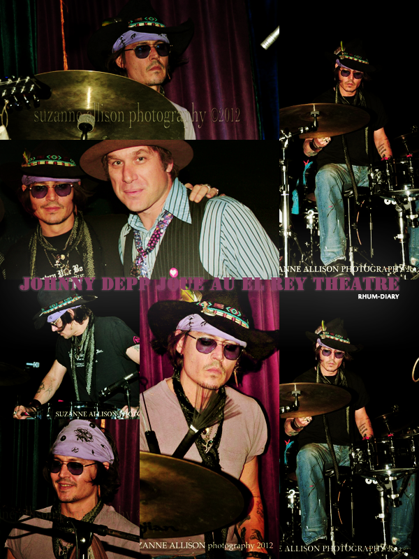 ' ' Johnny Depp joue au El Rey Theatre  By Rhum-Diary [c =#080604]'