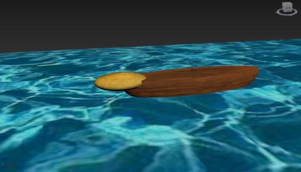 Le vaisseau navire flottant transporteur kalirien imagé de Gortysk ou Kaliroust le penseur mysterieux avec autodesk 3ds max.