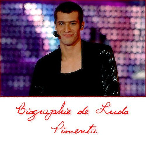 - Biographie de Ludovic Pimenta  -