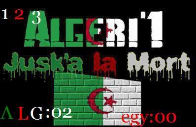 ont est toujour les meilleurs ont vas gagner ce match la 2 a 0 (1 2 3 viva l'algerie)