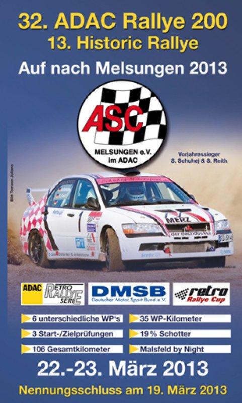 32. ADAC Rallye 200 Auf nach Melsungen 2013