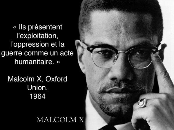 Malcolm X (19 mai 1925 - 21 février 1965), connu aussi sous le nom de El-Hajj Malek El-Shabazz Part.I