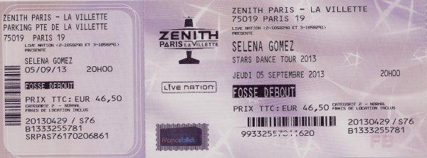 Breff j'ai vu Selena Gomez.    05/09/2013    Stars Dance Tour   <3 <3 <3