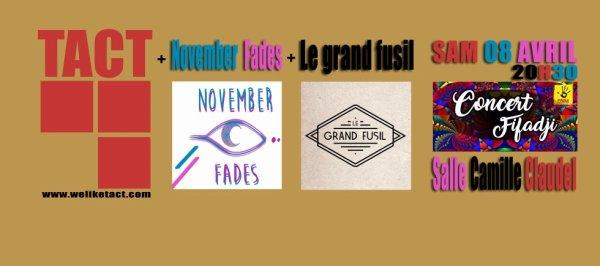 concert TacT - November Fades - Le grand Fusil
