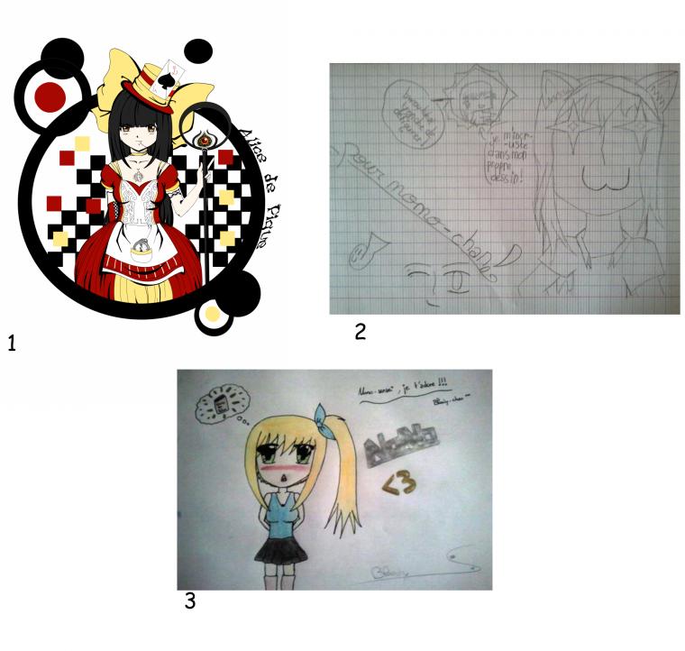 H.S : Vos dessins pour moi.