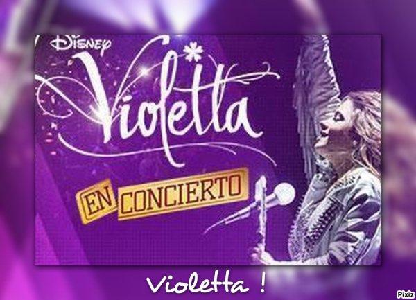 """Affiche de """"Violetta en vivo"""" !"""