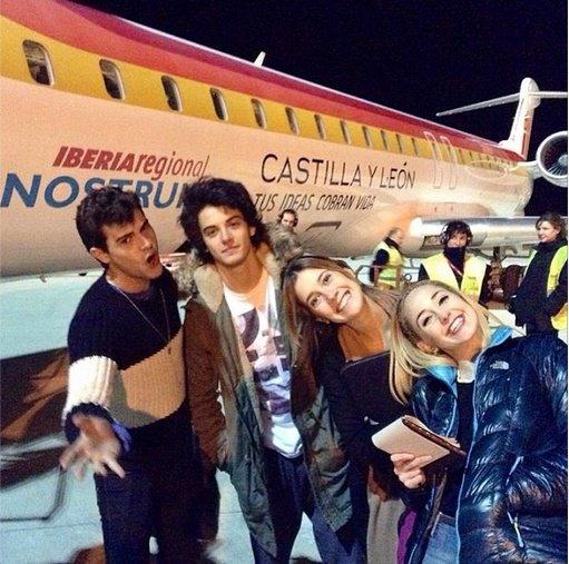 Diego, Xabi, Clari et Mechi !!!
