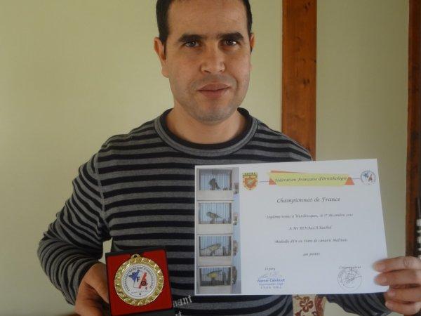 médaille d'Or STAM champion de France 491 points