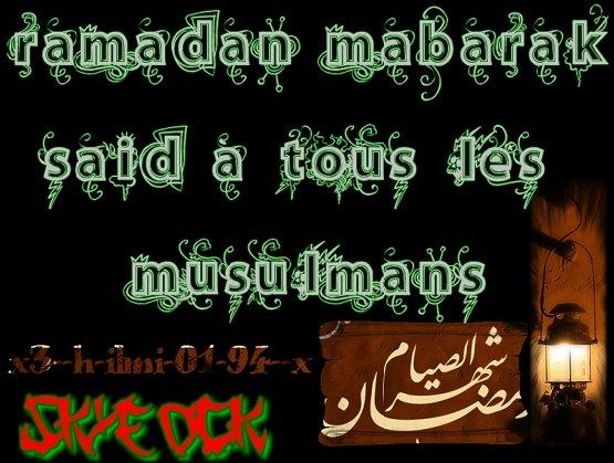 à ts les musulmans
