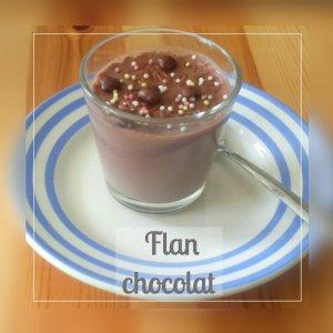 Petits flans au chocolat