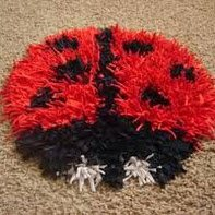 TAPIS SHAGGY COCCINELLE