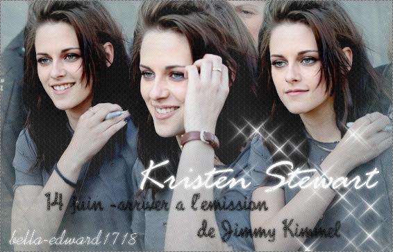 14 juin - Kristen arrive à l'émission de Jimmy Kimmel