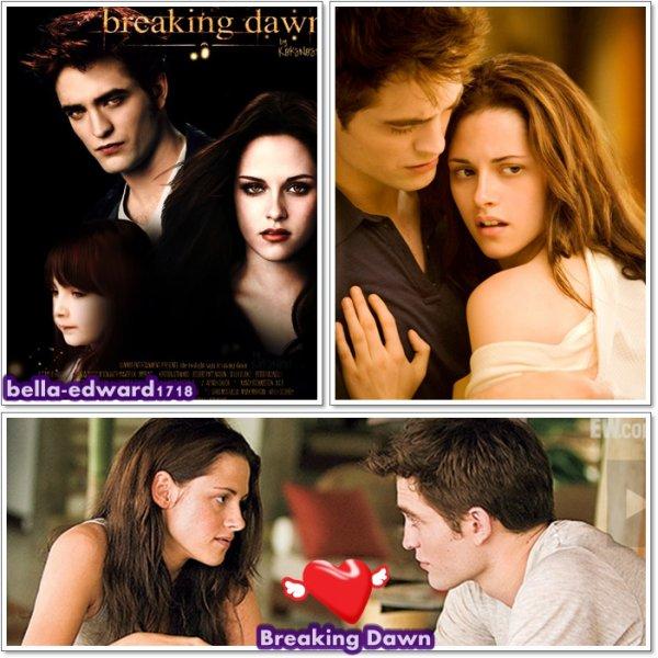trop hâte de voir le film the twilight Breaking Dawn  le 19 novembre prochain