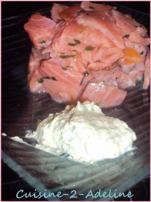 ● Tartare de deux saumons &. Mousse d'avocat  ●