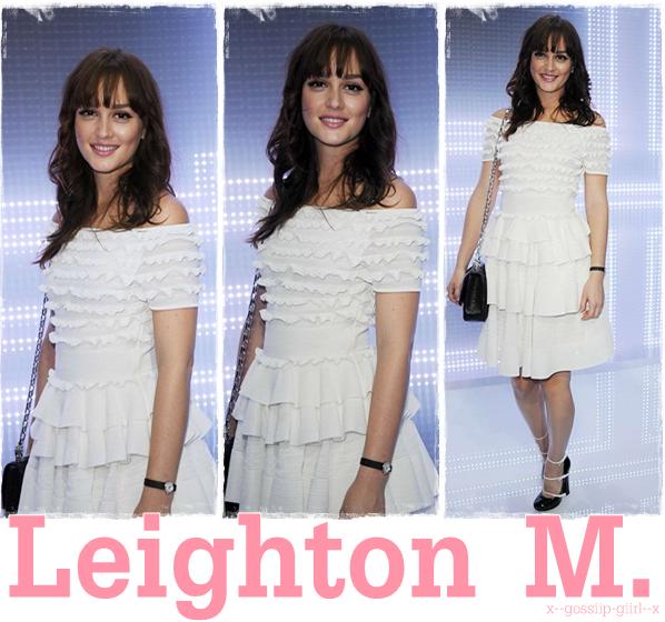 Leighton le 30 Septembre à Paris pour le défilé de Christian Dior.