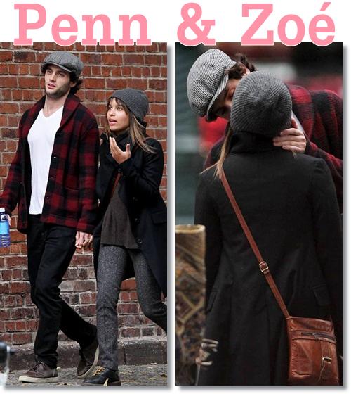 Penn pour le magazine Nylon et se baladant avec sa petite amie Zoé Kravitz le 5 octobre.