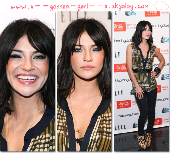 Spotted : J. le 30 novembre à la soirée Elle, Sundance Channel , Bloomingdale's and Joe Zee Host et le 21 au 39th International Emmy Awards.