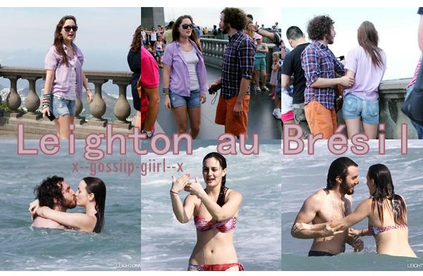 Spotted : Leighton au Brésil avec son amoureux le 15 et 13 avril.