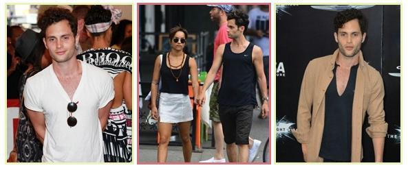"""Penn le 12 , 14 et 16 Juillet à une soirée , se promenant avec sa petite copine Zoé dans East Village et à la première du film """"The Dark Knight Rises"""""""