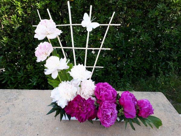 compositions de fleur'art  réalisée pour un anniversaire