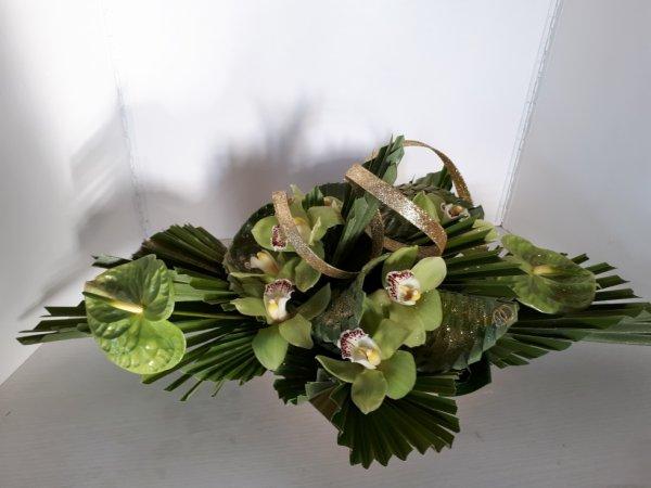 composition réalisée par fleur'art pour des 50 ans de mariage