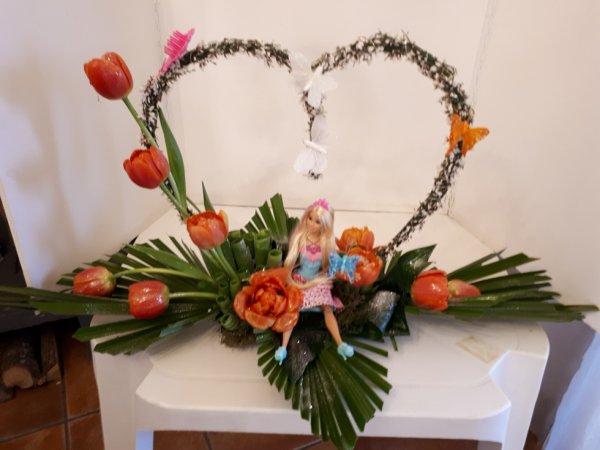 composition réalisée par fleur'art pour les 5 ans d'alice