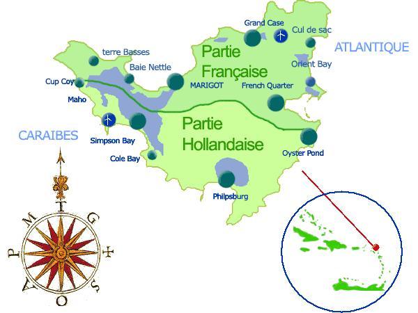 Carte de l'île