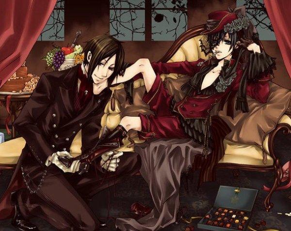 """""""Je suis un diable de majordome"""" Sebastian - """"Je jure sur le blason de ma famille que je supprimerai tous ceux qui souillentle jardin de la reine quels que soient les moyens que je dois utiliser"""" Ciel"""