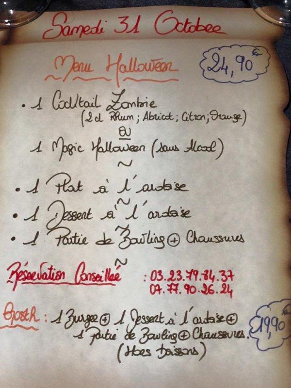 Venez découvrir en famille la décoration d Halloween du magic bowling Laon SAMEDI 31 novembre SOIRÉE HALLOWEEN