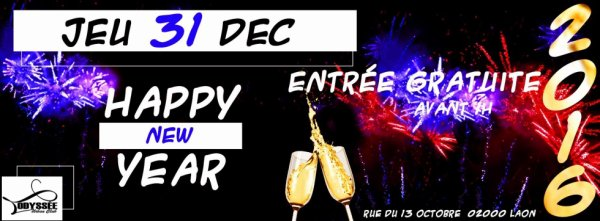 HAPPY NEW YEAR JEU 31 DEC