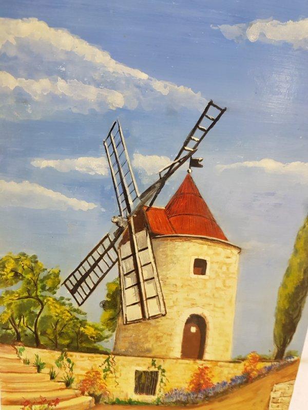 Mes Tableaux: Le moulin de Daudet