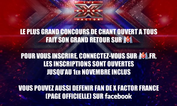 X FACTOR FRANCE - RETOUR OFFICIEL ET DATE DES CASTINGS