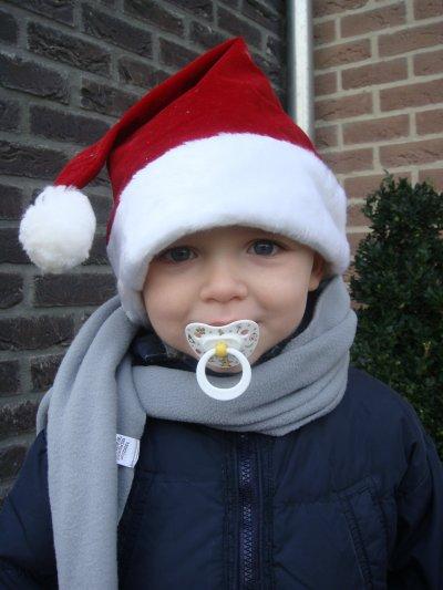 mijn zoontje in kerstsfeer