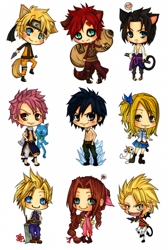 how to draw fairy tail chibi characters