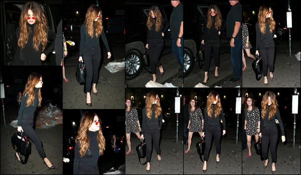02.06.16 ─ Selena Gomez a été photographiée, alors, qu'elle arrivait à la boîte de nuit Up & Down à New-York C.Selena s'est accorder un peu de plaisir pendant son temps libre, cette fois-ci, la belle est allée s'amuser avec ces amis en boîte de nuit. C'est un top !