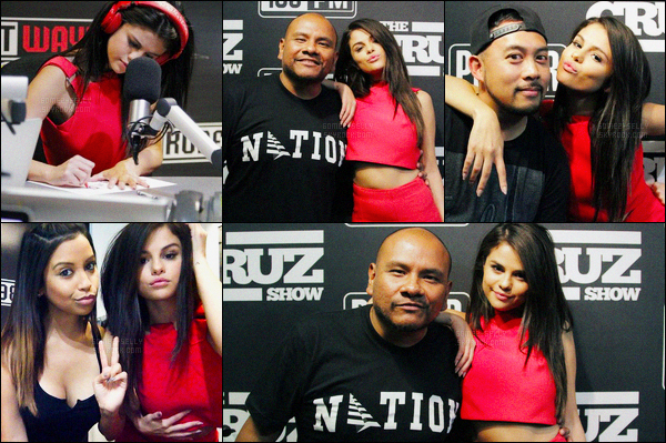 10/09/2015 : Selena Gomez a donner une interview à la radio Power 106, se situant dans la ville à Los Angeles. Et la promotion continue. Après avoir déjà donner des interviews dans deux radio, Selena continue sa promo, j'aime vraiment sa tenue... Et vous ?