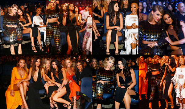 30/08/2015 : Selena G. s'est rendue à la cérémonie des Video Music Awards 2015 se situant à Los Angeles. Selena G a poser avec le cast du clip de Taylor Swift « Bad Blood » et comme d'habitude Selena était là pour soutenir sa BFF Taylor Swift.