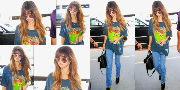 10.07.16 ─ Selena Gomez a été photographiée, pendant, qu'elle arrivait à l'aéroport de LAX dans Los Angeles, CA.Selena Gomez a pris un envol pour le Québec pour performer lors du festival d'été qui se déroulera donc demain soir. Sa tenue est top de ma part, vous ?
