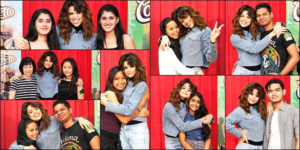 25.07.16 ─ Selena Gomez a donner son quarante-sixième concert, pour le « Revival Tour » dans Kuala Lumpur.Selena G. se produira encore pendant 04 show en Asie puis partira en Océanie pour performer sur 04 soirée, elle est adorable au M&G comme d'hab !