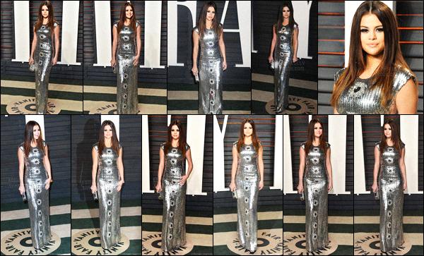 28.02.16 ─ Selena Gomez était présente, lors, de la cérémonie des « Vanity Fair Oscar Party », dans Beverly Hills.Selena Gomez a opté pour une robe de Louis Vuitton, et je ne suis pas très fan, perso.. Une collaboration entre Selena Gomez et Wiz Khalifa se prépare !