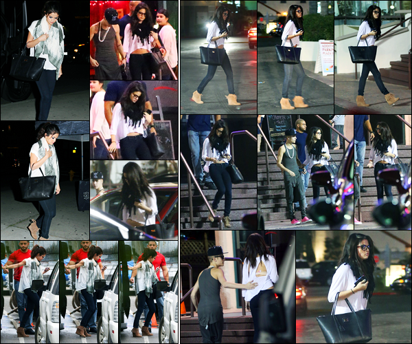 15.11.2012 ─ Selena Gomez a été photographiée alors qu'elle quittait son hôtel «Four Seasons» dans Los Angeles.Ils ont ensuite été vues à Laugh Factory dans Los Angeles... Et le lendemain, ils ont été vus quittant un restaurant à LA... J'adore la tenue de Selena G. !