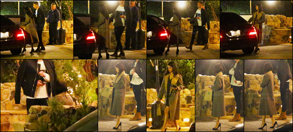 15/01/2016 : Selena Gomez a été aperçue arrivant, puis quittant le Saddle Peak Lodge, dans Malibu Canyon. Après avoir était très proche de Samuel Krost après la cérémonie de Glamour Magazine 2015, Selena et lui se sont revus et on l'air très proche !